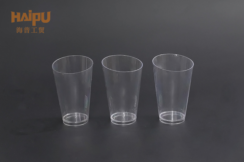High Quality Custom Logo Safety Cheap Transparent Bottom Plastic Cup Round