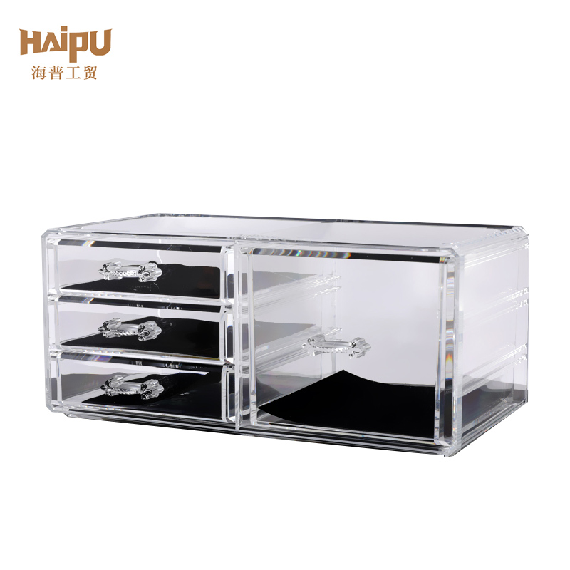 Homeware 2 Pieces Set Plastic Ps Cosmetic Organizer Rotate Box