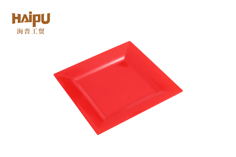 Disposable Tableware Plastic Square Dinner Plate