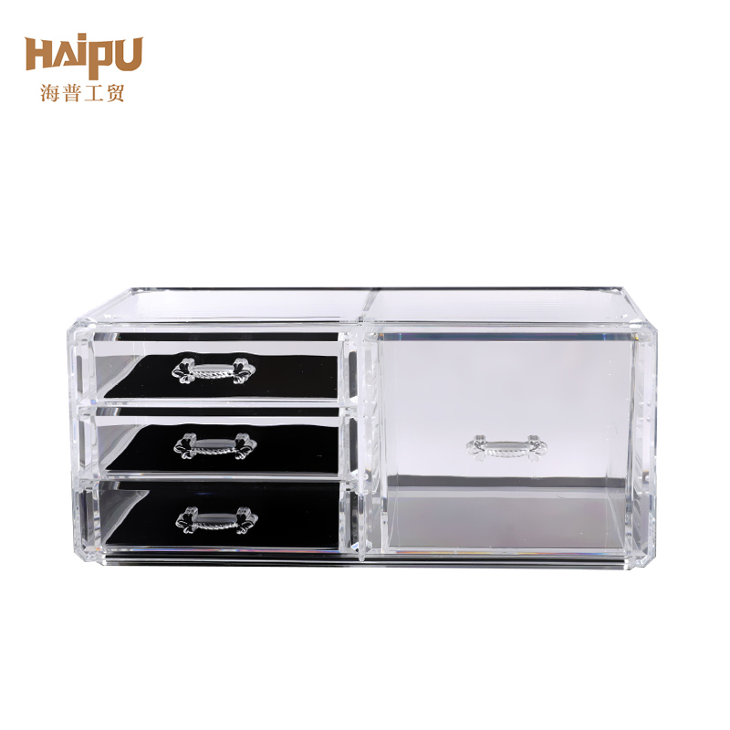 2 Pieces Set Portable Cosmetic Storage Box Organizer Display box
