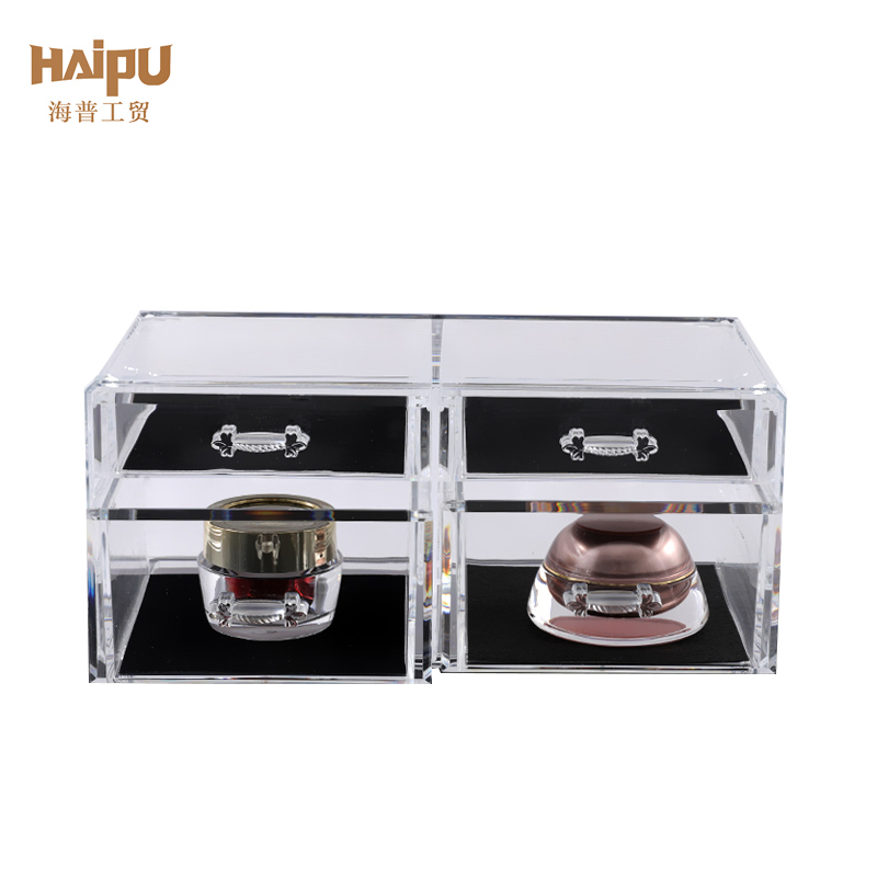 Desktop Finishing Cosmetic Makeup Organizer Plastic Storage Box Makeup Organizer