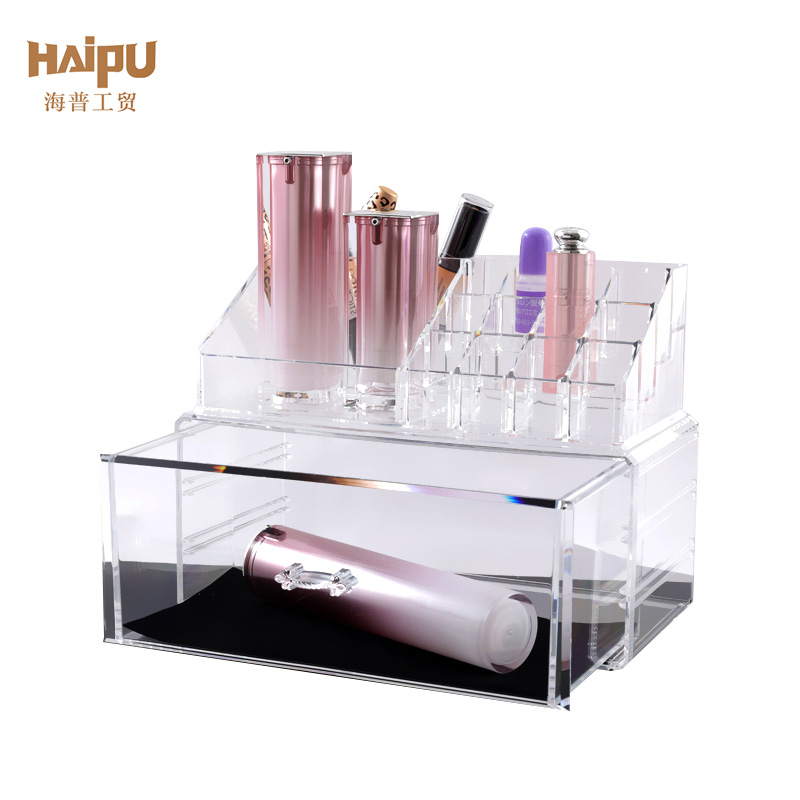 Homeware Transparent Plastic PS 1 Drawer Makeup Cosmetic Organizer