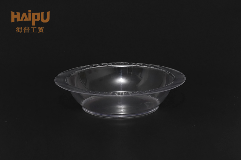 Cheap food service disposable clear plastic round plate bowl