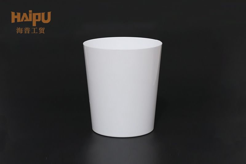 Custom Logo Transparent White Cylindrical Round Clear Plastic Cup Disposable