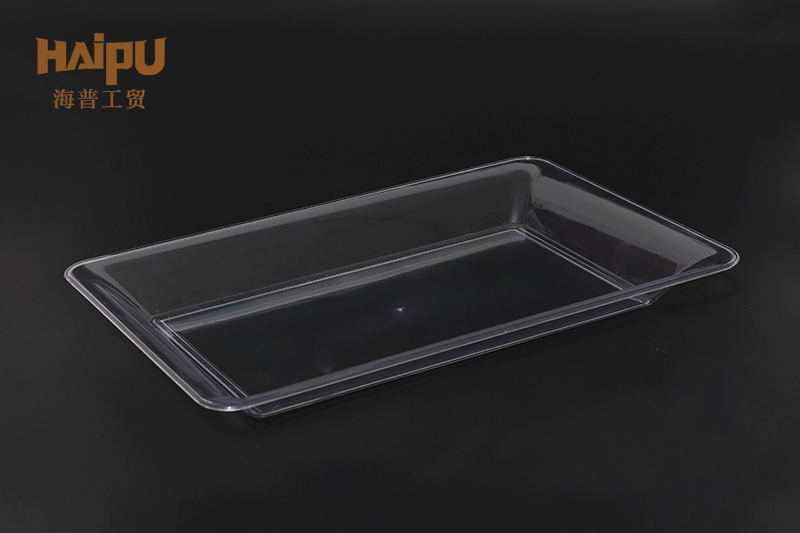 Disposable Plastic Cutlery Service Square Tray