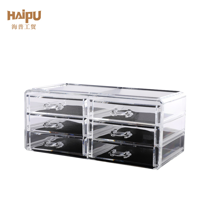 Transparent Plastic Organizer Makeup Cosmetic Drawer