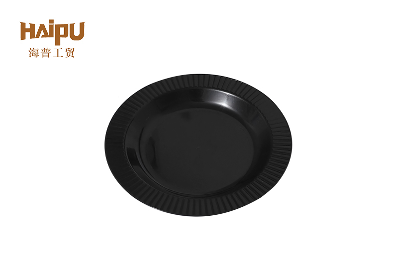 good sale biodegradable disposable plastic cutlery round dish