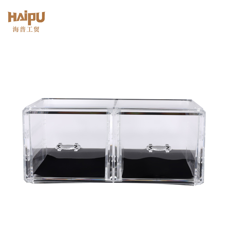 Desktop Finishing 2 Pieces Set Cosmetic Drawer Storage Box Organizer