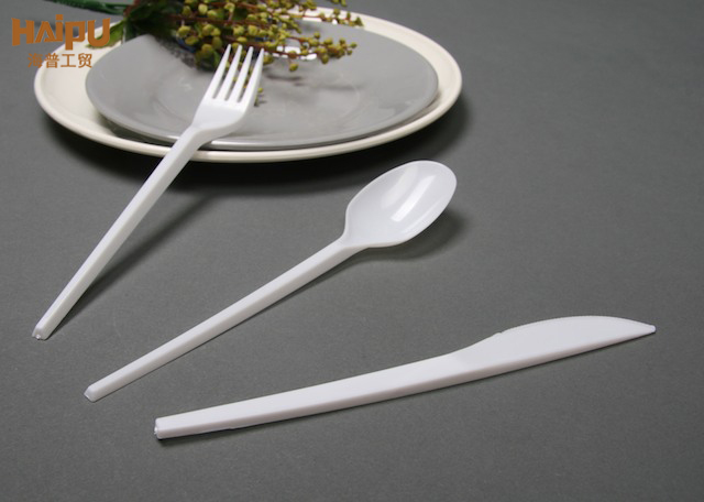Disposable Plastic Cutlery Set middle east style polystyrene cutlery set