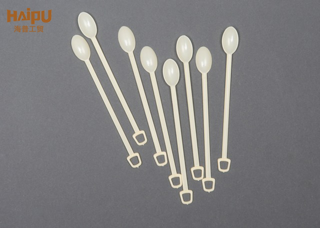 Long Handle Tableware Disposable Small Dessert Plastic Coffee Spoon